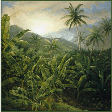 From oil painting: Windward Mist