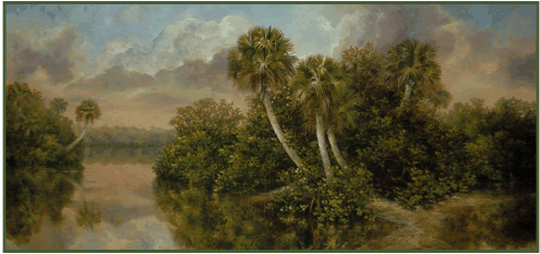 From oil painting: Florida Estuary