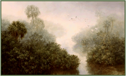 From oil painting: Mangrove Mist