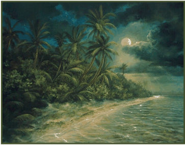 From oil painting: Tropic Moon